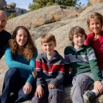 Family Thanksgiving pictures in Estes