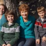 Kids with Grandma Nancy during Thanksgiving visit