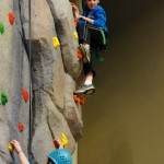 """Janaye and Eric climbing at the """"Y"""""""