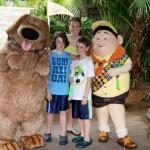 "The kids meet Dug and Russel from ""Up"" [Disneyworld]"