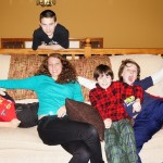 Hanging out with the Kansas cousins, Christmas 2012