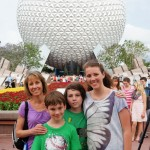 The family at Epcot