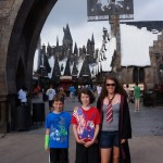 The kids at Harry Potter World in Universal Studios