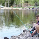 Eric fishing on a Scout campout