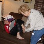 Grandma Walker ticklin' toes