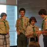 Alex receiving another scouting award
