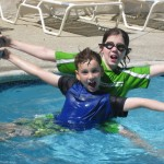 The boys in Grandma Nancy's pool