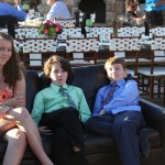 The kids are wildly excited at Heather and Brian's wedding