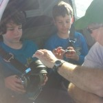 The boys headed up in a plane at Boy Scout outing