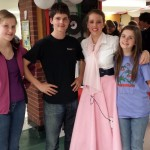 """Janaye with her Boardwell buddies after her """"Grease"""" performance"""