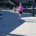 Michelle getting in some miles around the lake at Rancho Santa Margarita