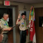 November - Alex getting sworn in as Senior Patrol Leader