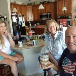 Sandy with sister Jeanette visiting us Coloradoans over the 4th