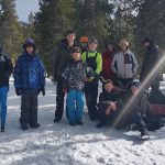 February -Klondike scout competition with Alex, Eric and troop