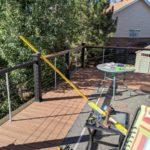 September - finishing up deck rails