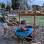Eric helping build concrete piers