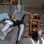 September - Dan's total knee replacement