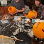 Pumpin carving, pumpkin pie and pumpkin seeds boiling!