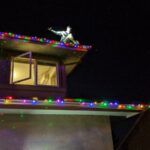 November - Eric adjusting Christmas lights
