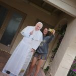 Janaye finds the Pope hanging out in San Juan Capistrano