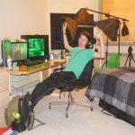 Alex in his bedroom/studio