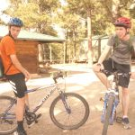 Bicycling class for Eric and Alex.