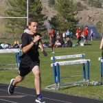 Eric competing in sprints
