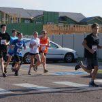 Alex running a 10k in Longmont
