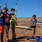 September - The kids getting paddleboard instruction at Horsetooth reservoir in Fort Collins