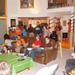 Our annual Super Bowl party (Go Broncos!)