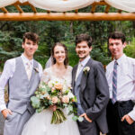 Siblings with their new Brother-in-law/Husband