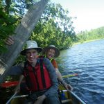 Me and Alex canoeing in the boundary waters, Minnesota.