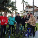Bike ride along beach in Newport