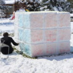 Alex's 6' cube in the back yard