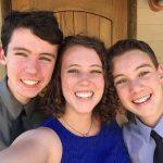 Kid's selfie at cousin's wedding