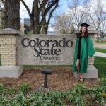 Janaye celebrating graduation from CSU