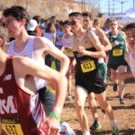 Alex in a large pack at State