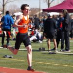 Alex running a leg of the 4 x 800 relay