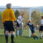 Spring soccer helping defend the goal