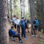 On a hike at the annual Pingree Park outing with Eric's School